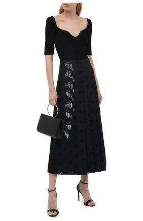 Женская юбка CHLOÉ черного цвета, арт. CHC21UJU09482 | Фото 2