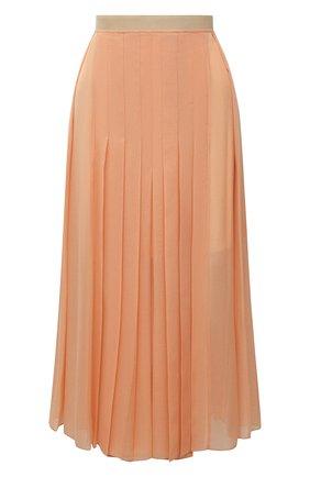 Женская плиссированная юбка CHLOÉ персикового цвета, арт. CHC21UJU17023   Фото 1