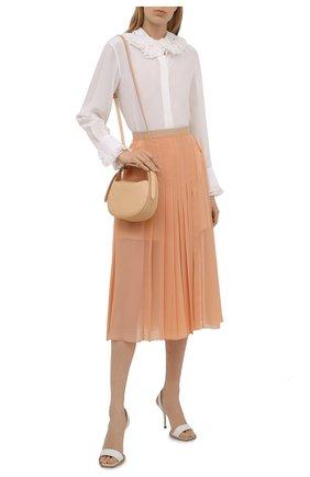 Женская плиссированная юбка CHLOÉ персикового цвета, арт. CHC21UJU17023   Фото 2