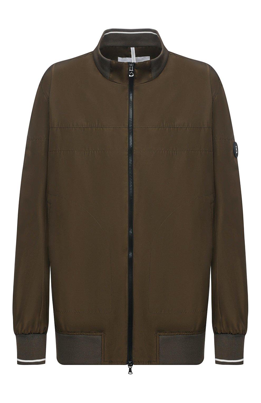 Мужской бомбер BOGNER хаки цвета, арт. 38612487   Фото 1 (Кросс-КТ: Куртка; Big sizes: Big Sizes; Рукава: Длинные; Принт: Без принта; Материал внешний: Синтетический материал; Мужское Кросс-КТ: Верхняя одежда; Длина (верхняя одежда): Короткие; Стили: Кэжуэл)