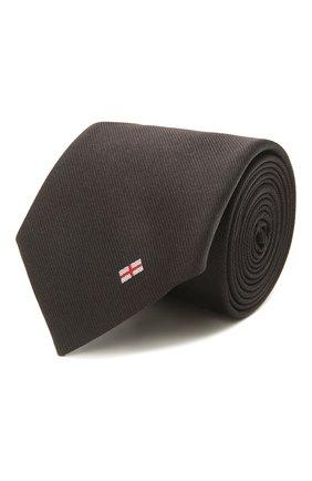 Мужской шелковый галстук BOSS темно-коричневого цвета, арт. 50455173   Фото 1