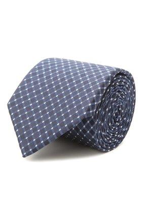 Мужской шелковый галстук BOSS темно-синего цвета, арт. 50455172 | Фото 1