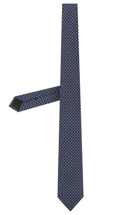 Мужской шелковый галстук BOSS темно-синего цвета, арт. 50455172 | Фото 2