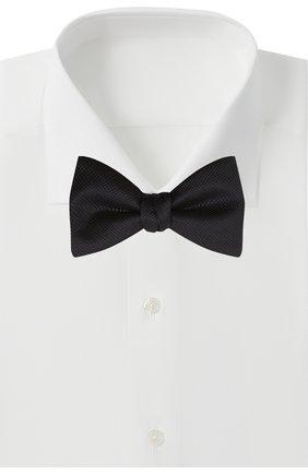 Мужской шелковый галстук-бабочка HUGO темно-синего цвета, арт. 50455286 | Фото 2