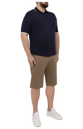 Мужские хлопковые шорты PAUL&SHARK бежевого цвета, арт. 21414003/E7A | Фото 2