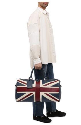 Мужская кожаная дорожная сумка ASPINAL OF LONDON разноцветного цвета, арт. 025-1096_08460000 | Фото 2