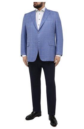 Мужская хлопковая сорочка ETON белого цвета, арт. 1000 02200 | Фото 2 (Принт: Однотонные; Манжеты: На пуговицах; Big sizes: Big Sizes; Длина (для топов): Удлиненные, Стандартные; Мужское Кросс-КТ: Рубашка-одежда; Воротник: Кент; Рукава: Длинные; Случай: Формальный; Материал внешний: Хлопок)