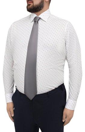 Мужская хлопковая сорочка ETON белого цвета, арт. 1000 03053   Фото 4 (Манжеты: На пуговицах; Big sizes: Big Sizes; Воротник: Кент; Рукава: Длинные; Длина (для топов): Стандартные; Принт: С принтом; Материал внешний: Хлопок; Случай: Формальный; Мужское Кросс-КТ: Рубашка-одежда)