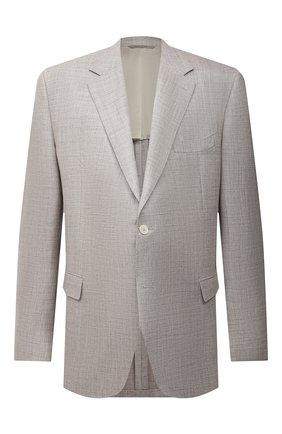 Мужской пиджак из шерсти и шелка CANALI бежевого цвета, арт. 21280/CU00383/60-64 | Фото 1