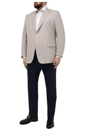 Мужской пиджак из шерсти и шелка CANALI бежевого цвета, арт. 21280/CU00383/60-64 | Фото 2
