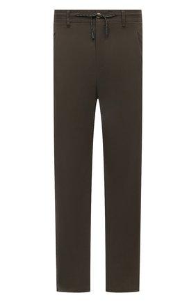 Мужские хлопковые брюки EDUARD DRESSLER темно-зеленого цвета, арт. 150138/51W09 | Фото 1