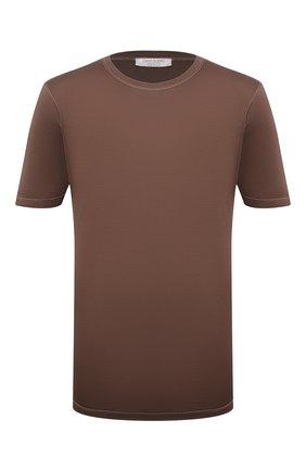 Мужская шелковая футболка GRAN SASSO коричневого цвета, арт. 60133/78302 | Фото 1