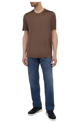 Мужская шелковая футболка GRAN SASSO коричневого цвета, арт. 60133/78302 | Фото 2
