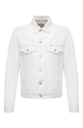 Мужская джинсовая куртка POLO RALPH LAUREN белого цвета, арт. 710833150 | Фото 1