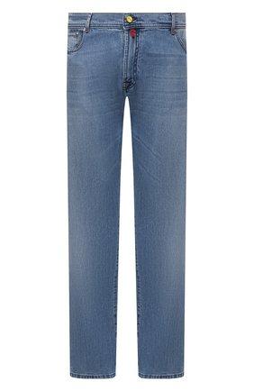 Мужские джинсы KITON голубого цвета, арт. UPNJS/J07T20/44-52 | Фото 1