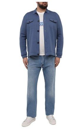 Мужские джинсы KITON голубого цвета, арт. UPNJS/J07T20/44-52 | Фото 2