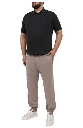 Мужские джоггеры KITON бежевого цвета, арт. UFPPZJ07T37 | Фото 2