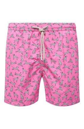 Мужские плавки-шорты MC2 SAINT BARTH розового цвета, арт. STBM LIGHTING MICR0 FANTASY/LIG0003 | Фото 1