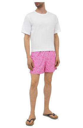Мужские плавки-шорты MC2 SAINT BARTH розового цвета, арт. STBM LIGHTING MICR0 FANTASY/LIG0003 | Фото 2