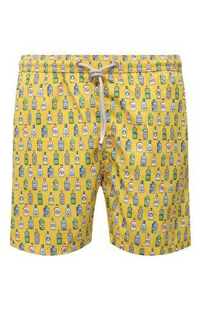 Мужские плавки-шорты MC2 SAINT BARTH желтого цвета, арт. STBM LIGHTING MICR0 FANTASY/LIG0003 | Фото 1