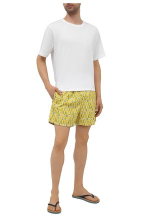 Мужские плавки-шорты MC2 SAINT BARTH желтого цвета, арт. STBM LIGHTING MICR0 FANTASY/LIG0003 | Фото 2