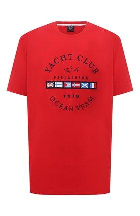 Мужская хлопковая футболка PAUL&SHARK красного цвета, арт. 21411096/C00/3XL-6XL | Фото 1