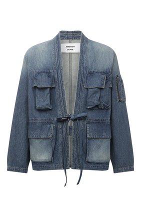 Мужская джинсовая куртка AMBUSH темно-синего цвета, арт. BMYE003S21DEN001 | Фото 1