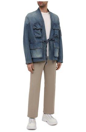 Мужская джинсовая куртка AMBUSH темно-синего цвета, арт. BMYE003S21DEN001 | Фото 2