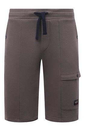 Мужские хлопковые шорты PAUL&SHARK коричневого цвета, арт. 21411883/C00 | Фото 1