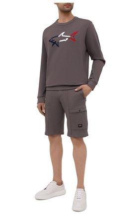 Мужские хлопковые шорты PAUL&SHARK коричневого цвета, арт. 21411883/C00 | Фото 2