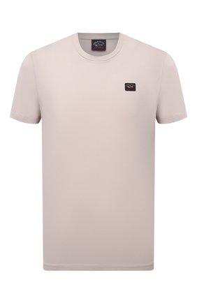 Мужская хлопковая футболка PAUL&SHARK бежевого цвета, арт. C0P1002/C00 | Фото 1