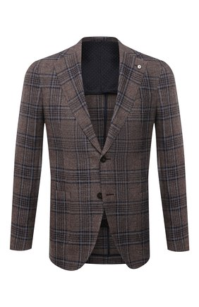 Пиджак из шелка и льна | Фото №1