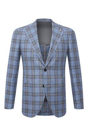 Мужской пиджак из шерсти и шелка L.B.M. 1911 голубого цвета, арт. 2411/12553 | Фото 1