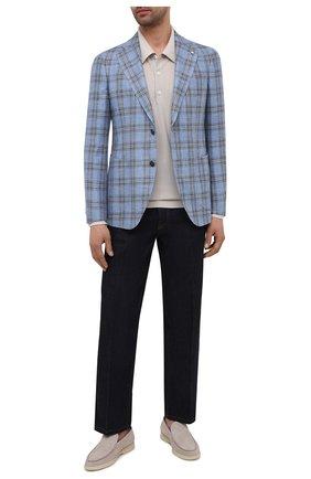 Мужской пиджак из шерсти и шелка L.B.M. 1911 голубого цвета, арт. 2411/12553 | Фото 2