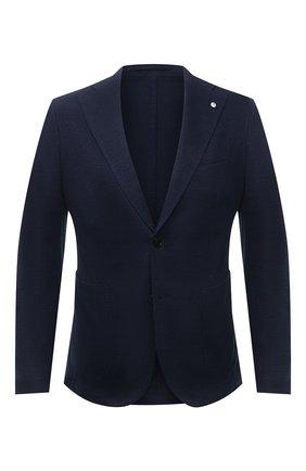 Мужской пиджак из хлопка и льна L.B.M. 1911 темно-синего цвета, арт. 2817/15751 | Фото 1