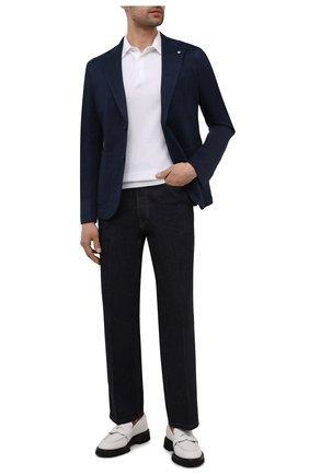 Мужской пиджак из хлопка и льна L.B.M. 1911 темно-синего цвета, арт. 2817/15751 | Фото 2