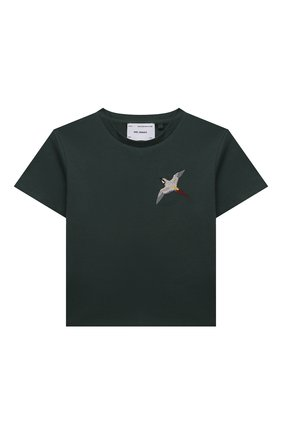 Детская хлопковая футболка AXEL ARIGATO зеленого цвета, арт. 15533   Фото 1