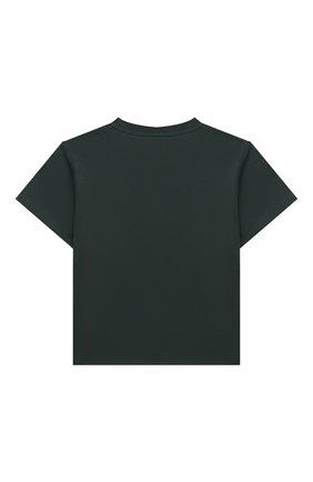 Детская хлопковая футболка AXEL ARIGATO зеленого цвета, арт. 15533   Фото 2
