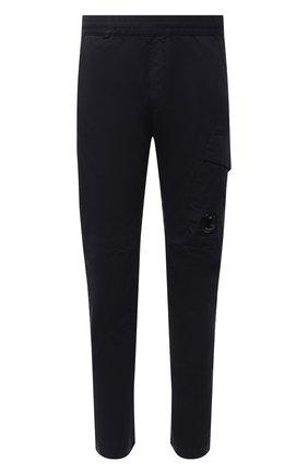 Мужские хлопковые брюки C.P. COMPANY темно-синего цвета, арт. 10CMPA270A-0060260 | Фото 1