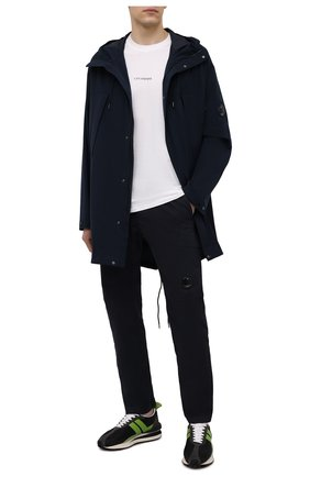 Мужские хлопковые брюки C.P. COMPANY темно-синего цвета, арт. 10CMPA270A-0060260 | Фото 2