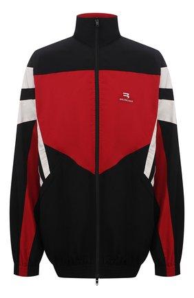 Мужская куртка BALENCIAGA разноцветного цвета, арт. 659031/TK048 | Фото 1 (Материал внешний: Синтетический материал; Материал подклада: Хлопок, Синтетический материал; Кросс-КТ: Куртка, Ветровка; Рукава: Длинные)