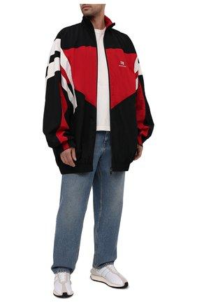 Мужская куртка BALENCIAGA разноцветного цвета, арт. 659031/TK048 | Фото 2 (Материал внешний: Синтетический материал; Материал подклада: Хлопок, Синтетический материал; Кросс-КТ: Куртка, Ветровка; Рукава: Длинные)