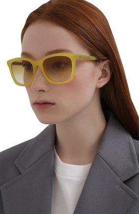 Женские солнцезащитные очки ISABEL MARANT желтого цвета, арт. IM0010 40G | Фото 2 (Оптика Гендер: оптика-женское; Тип очков: С/з; Очки форма: Квадратные, Прямоугольные)