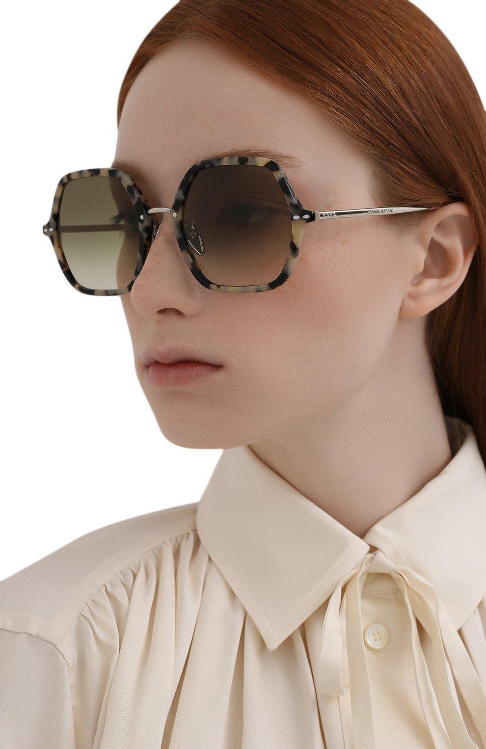 Женские солнцезащитные очки ISABEL MARANT серого цвета, арт. IM0036 9G0 | Фото 2