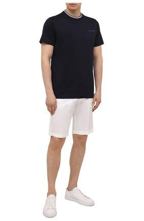 Мужская хлопковая футболка BOGNER темно-синего цвета, арт. 58056798 | Фото 2 (Стили: Кэжуэл; Рукава: Короткие; Длина (для топов): Стандартные; Материал внешний: Хлопок; Принт: С принтом)