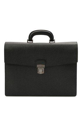 Мужской кожаный портфель SALVATORE FERRAGAMO темно-серого цвета, арт. Z/0700477   Фото 1