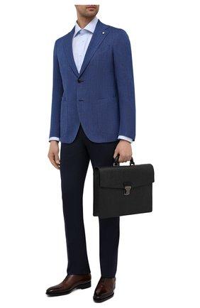 Мужской кожаный портфель SALVATORE FERRAGAMO темно-серого цвета, арт. Z/0700477   Фото 2