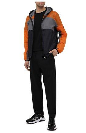 Мужские кожаные кроссовки HUGO черного цвета, арт. 50451639 | Фото 2