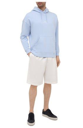 Мужские кожаные кеды BOSS темно-синего цвета, арт. 50454283 | Фото 2