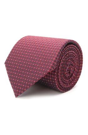 Мужской шелковый галстук BOSS кораллового цвета, арт. 50455243 | Фото 1